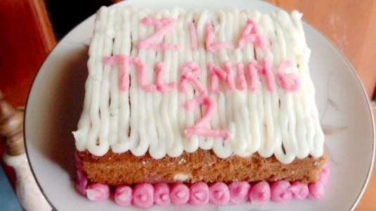 Cake Ultah Boromon Homemade No Oven