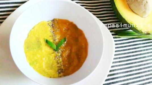 Snack Kabocha Avocado with Chia Seeds