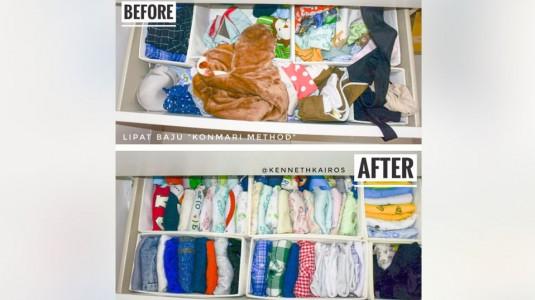 Membereskan Baju dengan Menggunakan Konmari Method