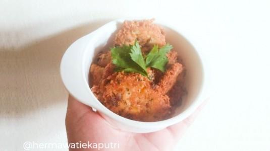 Snack MPASI Rubi : Perkedel Tahu Hati Ayam