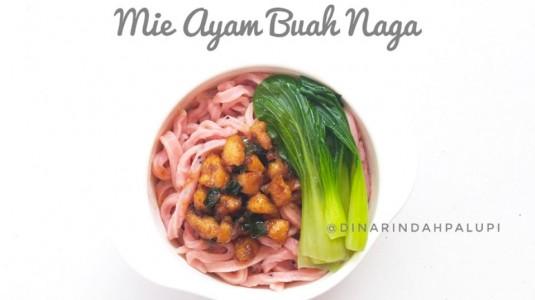 Resep MPASI Mie Ayam Buah Naga (12M+)
