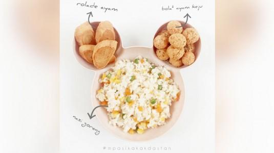 Resep MPASI Nasi Goreng, Rolade Ayam, Bola-bola Ayam Keju (12M+)