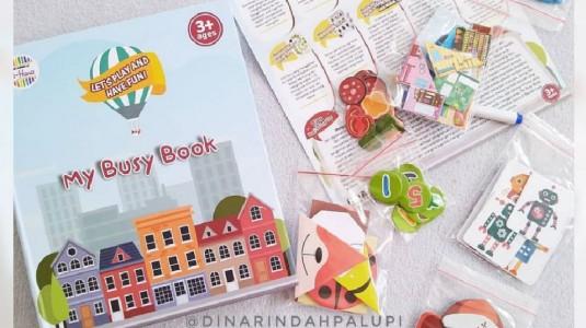 Review My Busy Book El-Hana : Activity Book untuk Melatih Motorik Halus Anak