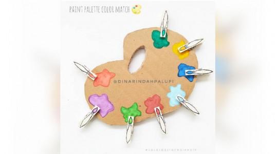 Ide Bermain Anak - Paint Palette Color Match