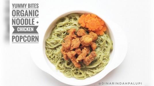 Resep MPASI Yummy Bites Organic Noodle + Chicken Popcorn (12M+)