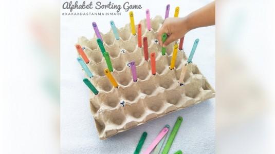 Ide Bermain Anak - Alphabet Sorting Game
