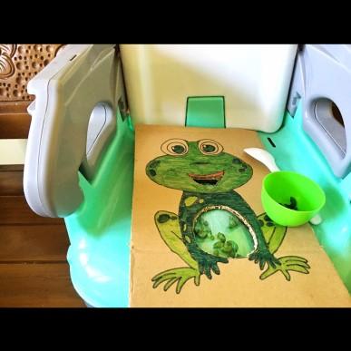 """Feeding Froggie"" Yuk !"