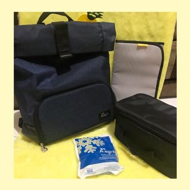 Allegra Arthur Roll Top Diaper Backpack