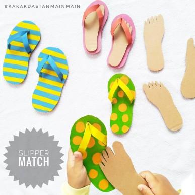 Ide Bermain Anak - Slipper Match 👣