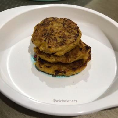 Resep snack MpASI sehat : Banana Oat Pancake (12m+)