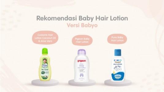Rekomendasi Baby Hair Lotion versi Babyo