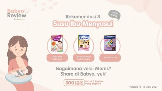 Rekomendasi Susu Ibu Menyusui versi Babyo