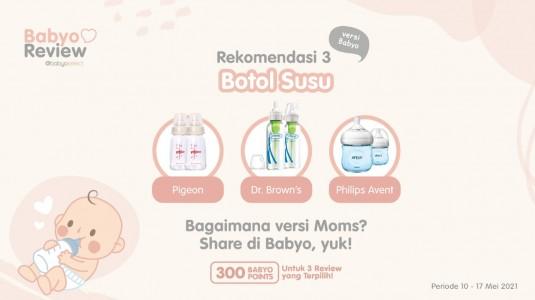 Rekomendasi Botol Susu Bayi versi Babyo