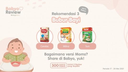 Rekomendasi Bubur Bayi versi Babyo
