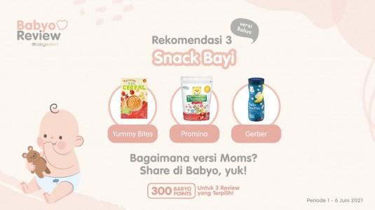 Rekomendasi Snack Bayi versi Babyo