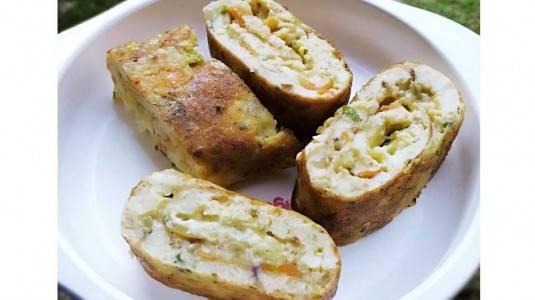 Resep Dadar Gulung Kentang, Tofu, dan Keju Mom Rika